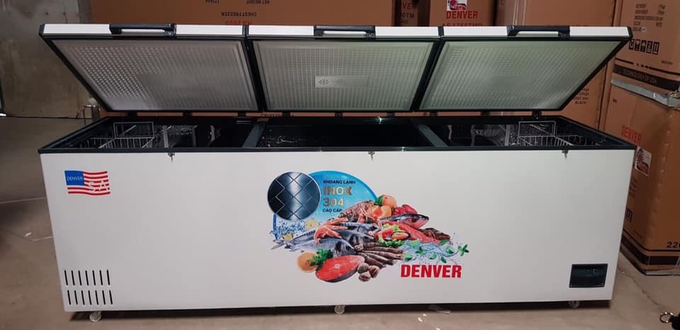 Tủ đông Denver AS-2600 1900 LÍT ống đồng lòng INOX - Tủ đông Sanden nhập khẩu - Tủ mát Sanden intercool