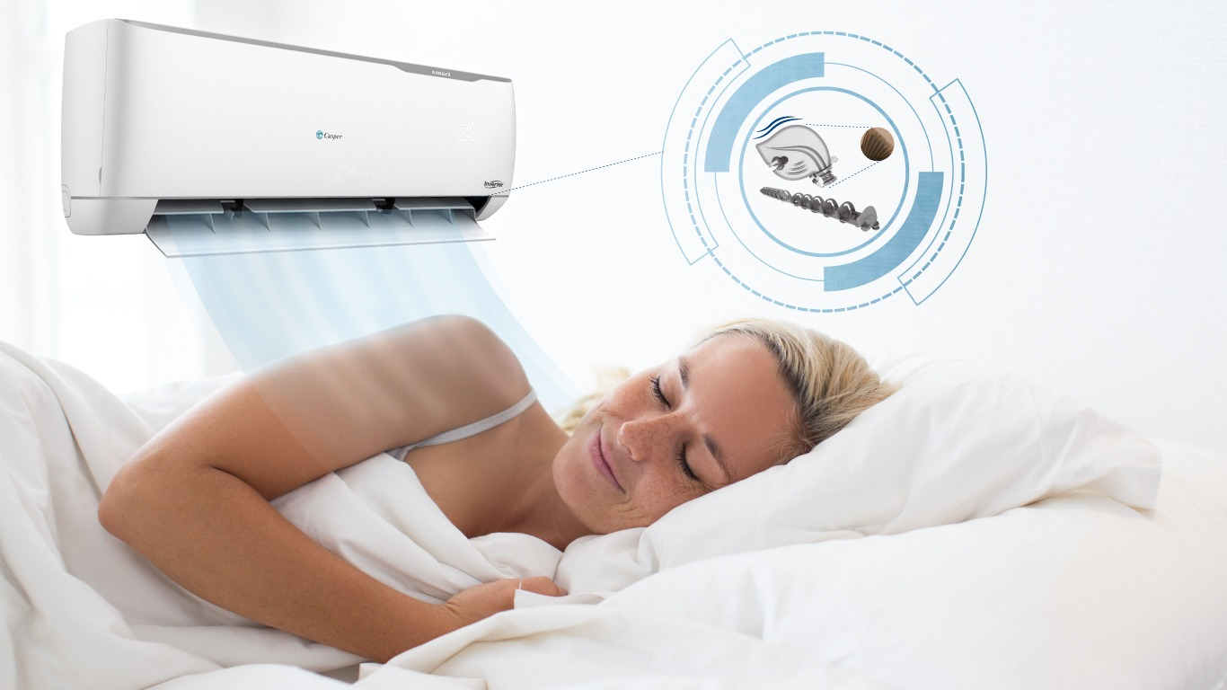 Điều hòa Casper được trang bị hệ thống tự điều chỉnh nhiệt độ thông minh