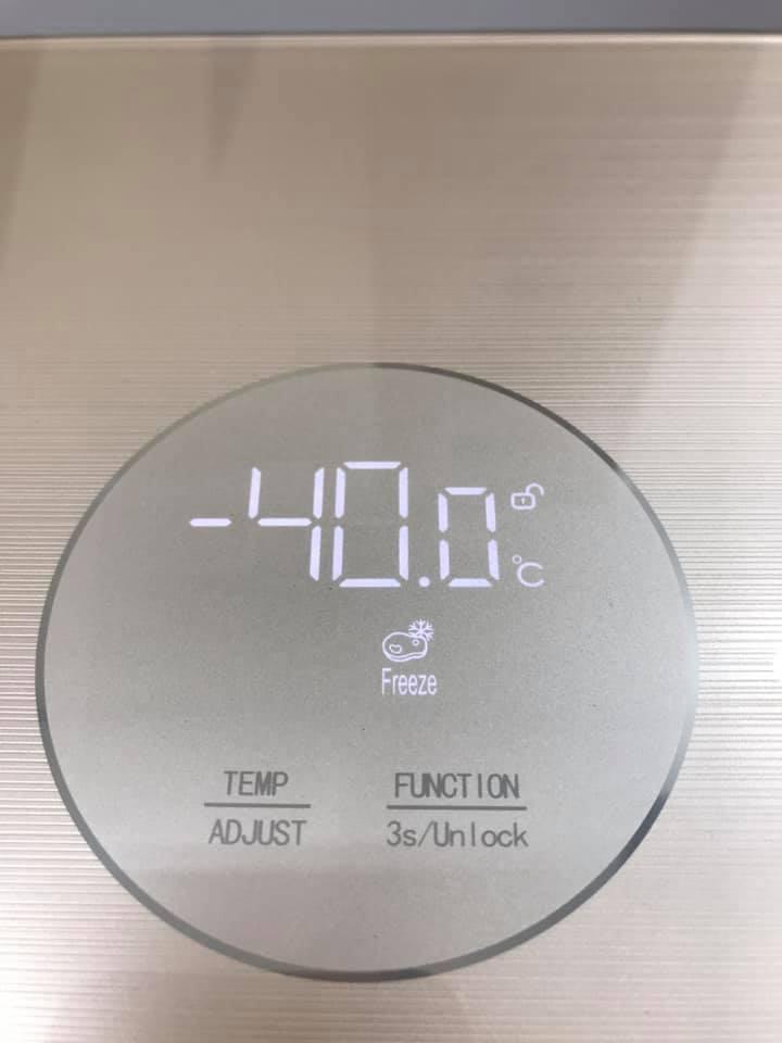 Tủ đông sanden cao cấp có chế độ làm đông Bảo quản đông (-12oC ~ -40oC)