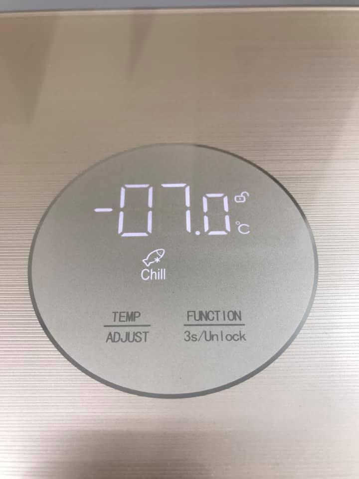 Tủ đông sanden cao cấp có chức năng đông mềm hay còn gọi là Bảo quản lạnh (-1.0oC ~ -11.0oC)